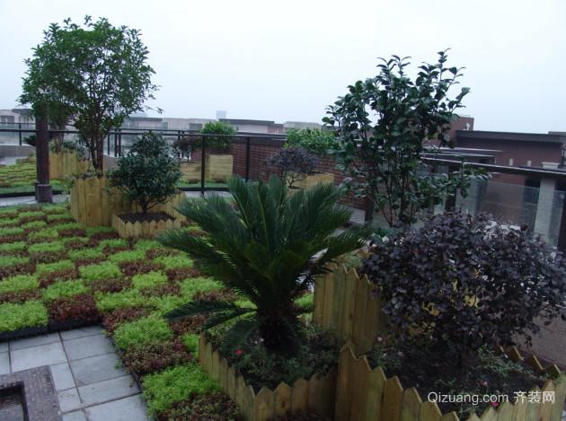 2015精致屋顶花园效果图