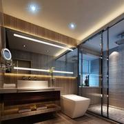 后现代风格深色系卫生间镜饰装饰