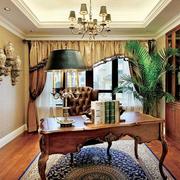 美式典雅奢华型客厅