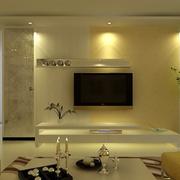 日式简约复式楼电视背景墙设计