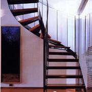 复式楼简约风格旋转楼梯效果图