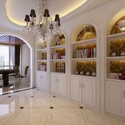 欧式简约风格玄关拱形门装饰