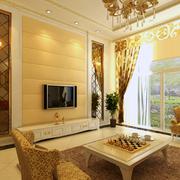 欧式风格客厅软包电视背景墙