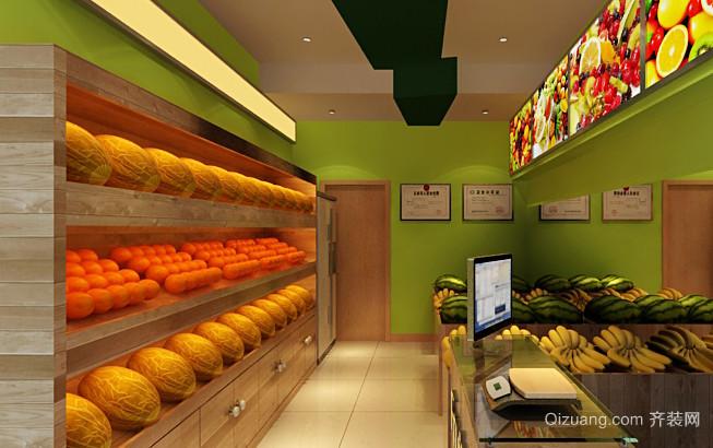 精美水果店室内设计装修效果图
