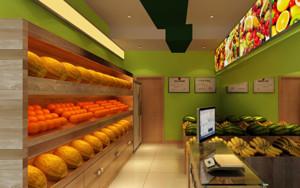 水果店简约风格置物架装饰