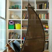 北欧风格清新阳台藤椅设计
