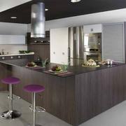 后现代风格灰色系厨房吧台装饰