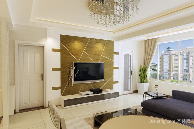 三室二厅欧式客厅硅藻泥吊顶装修效果图