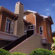 美式简约斜顶外墙效果图