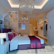 两室一厅现代简约风格卧室整体衣柜装饰