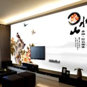 复式楼简约风格电视背景墙装饰