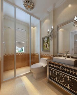 华丽大方120㎡欧式风格卫生间设计装修效果图