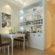 复式楼简约风格白色酒柜装饰