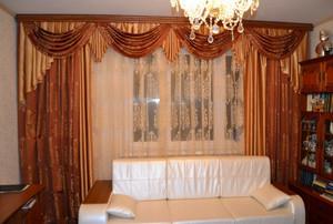 欧式别墅窗帘装修效果图