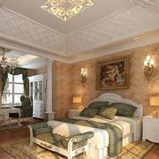 三室一厅简约欧式风格卧室吊顶装饰