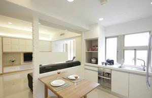跃层式住宅厨房隔断装修效果图