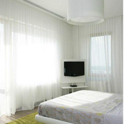 东南亚简约清新卧室窗帘装饰