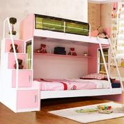 简约小清新淡粉色儿童床