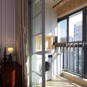 欧式简约风格阳台推拉门装饰
