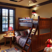 美式儿童房双层床