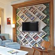 简约原木客厅柜子装饰