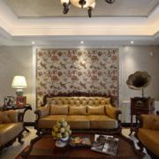 欧式经典风格客厅沙发背景墙装饰