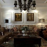 欧式经典风格客厅沙发装饰