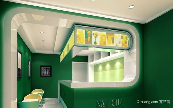 50平米小户型奶茶店吧台装修效果图