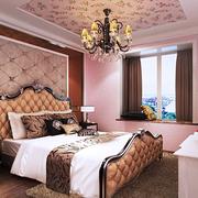 复式楼简约欧式风格卧室床头背景墙装饰