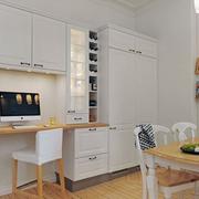 北欧风格简约客厅储物柜装饰