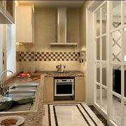 厨房简约玻璃门装饰