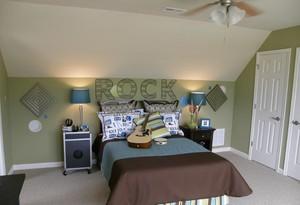 阁楼小卧室背景墙