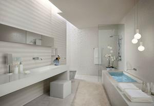 现代简约风格卫生间背景墙装饰