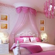 粉色系简约风格儿童房灯饰装饰