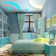 现代简约儿童房创意吊顶装饰