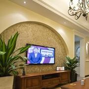 欧式简约拱形电视背景墙装饰