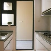 厨房简约风格玻璃隔断装饰