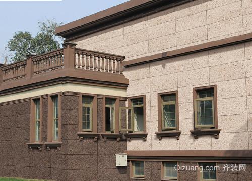 乡村两层自建别墅外墙砖效果图