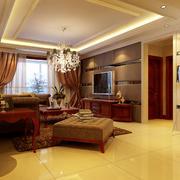 中式风格客厅飘窗装饰
