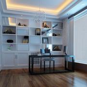 现代风格书房整体书架装饰