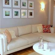 客厅形象墙白色款
