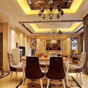 欧式豪华造型餐桌设计