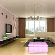 白色现代客厅硅藻泥吊顶
