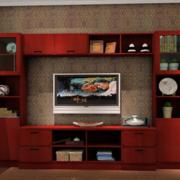 东南亚风格原木电视柜装饰