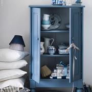 地中海浅蓝色小型柜子装饰