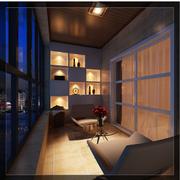 日式阳台窗户装饰效果图