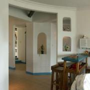 地中海风格原木客厅吧台装饰