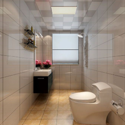 现代瓷砖卫生间图