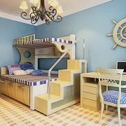 地中海风格儿童房电脑桌装饰