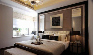 后现代风格卧室床头背景墙装饰